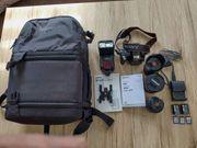 Sony Spiegelreflex Kamera Ausrüstung komplett