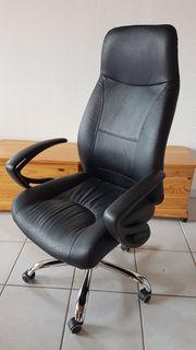 Schreibtischstuhl Chefsessel aus Leder