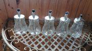 5 Zuckerdosen aus Glas mit
