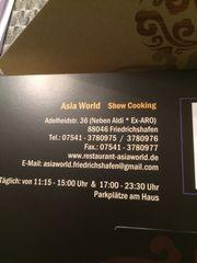 Verkaufe Gutschein Asia World Friedrichshafen