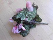 künstliche Blume Topfblume Alpenveilchen