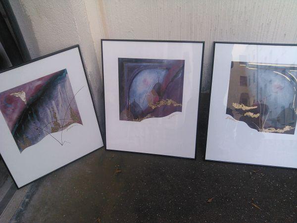 3 Bilder mit Rahmen ca