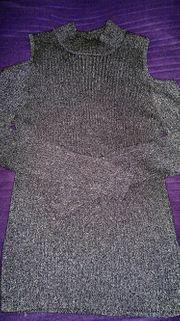 Eleganter Pullover schwarz mit Glitzereffekt