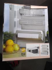 Küchenrollen-Abrollstation aus Edelstahl NEU