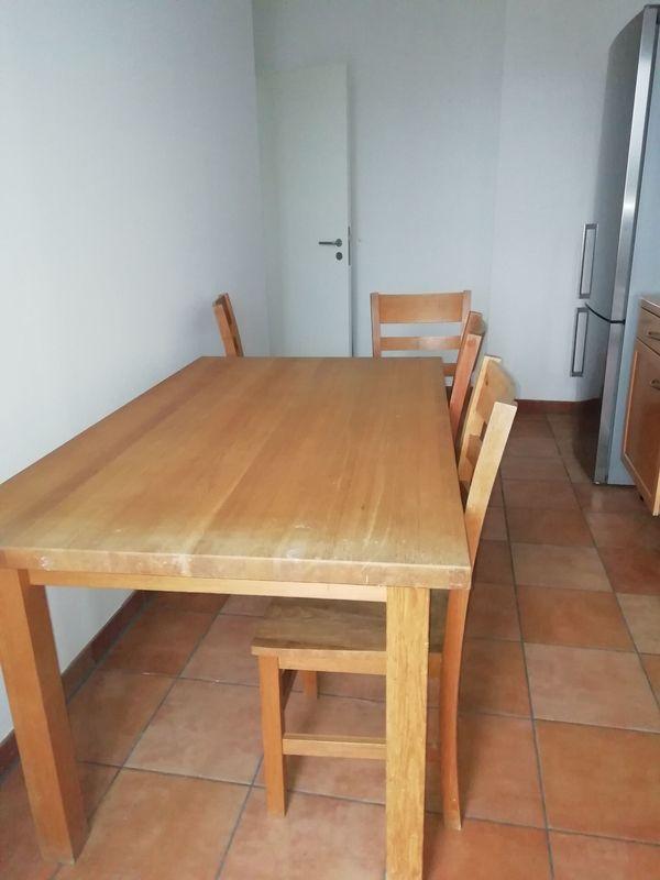 Massivholztisch Mit Stühlen In München Speisezimmer Essecken