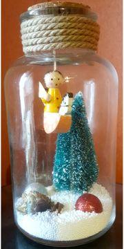 Weihnachtsglas Deko
