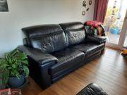 Sofa aus Leder schwarz