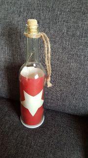 Deko Flasche mit Licht
