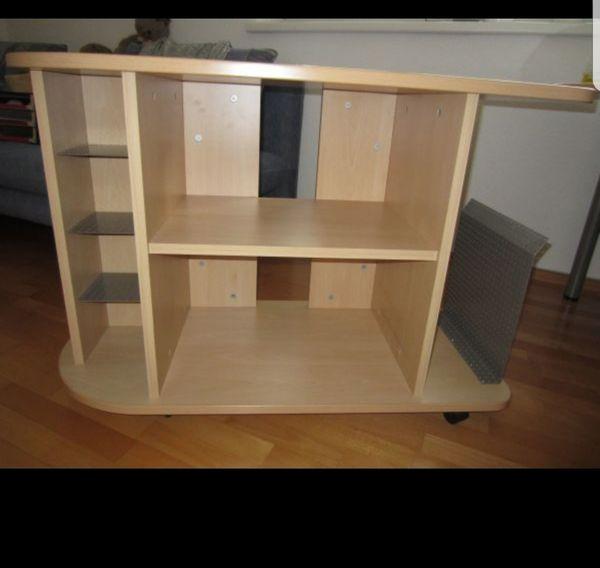 Schreibtisch Beistelltisch m Räder Beistelltisch