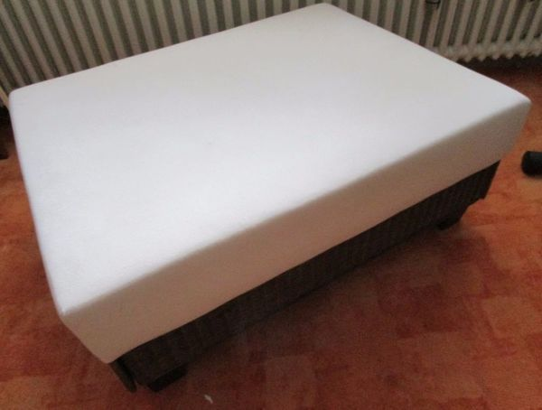 Couch - Hocker Federkern Rattan - Gestell