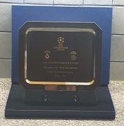 Absolute RARITÄT SILBERTELLER - UEFA CHAMPIONS