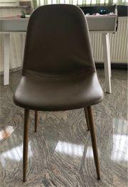 Stuhl beige taupe skandinavisch Esstischstuhl