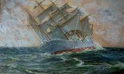2 alte Gemälde Maritim