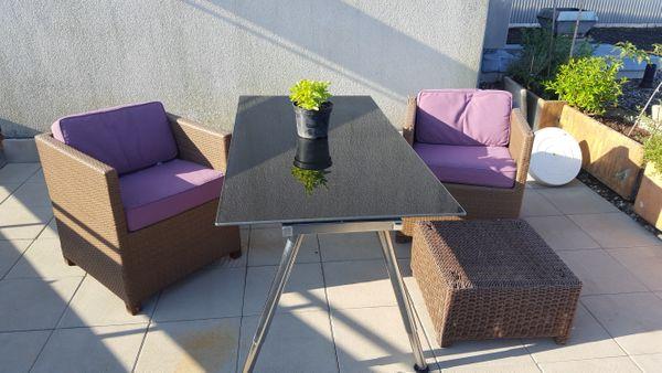 Rattan Loungemöbel mit oder Tisch