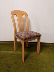 Sechs Esszimmerstühle Massivholz Polster mit
