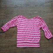Bluse Shirt Top Streifen rosa-rose
