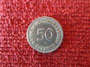 ORIGINAL-Fehlprägung 50 Pfennig Münze BANK
