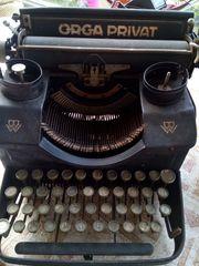 antike Schreibmaschine Orga Privat