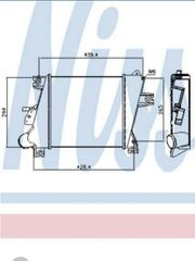 Ladeluftkühler Nissan X-Trail T30