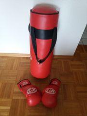 Box Sack mit Box Handschuhe
