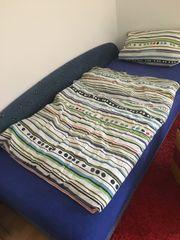 Bett mit Bettkasten Couch Schlafsofa