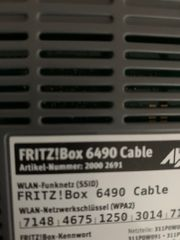 Fritz Box 6490 cable