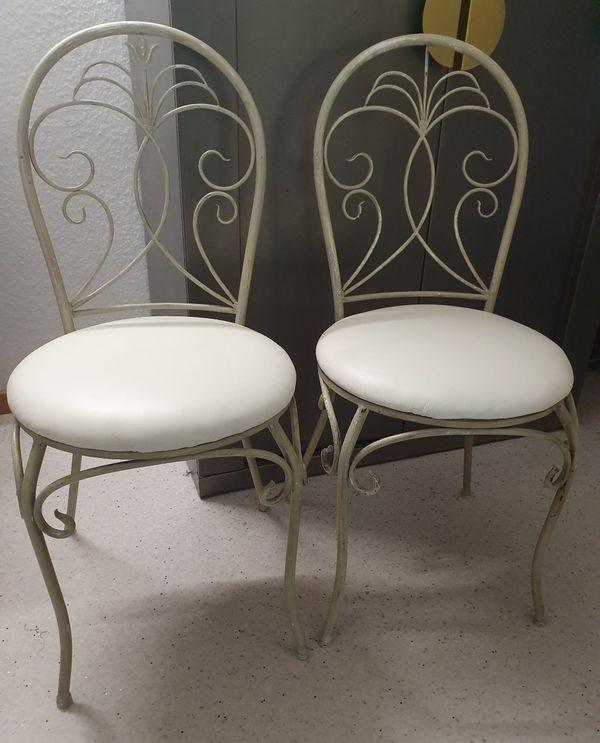 2 Stühle Garten Balkon Kaffeehausstühle In-/Outdoor antik Jugendstil Art