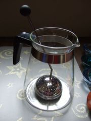 Teekanne mit Teesieb Glaskanne Kanne
