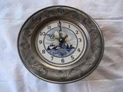 Zinnuhr Uhr Wanduhr aus Zinn