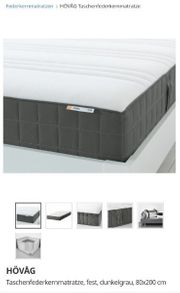 Neuwertige Matratze Taschenfederkernmatratze Hövag Ikea