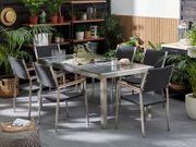 Gartenmöbel Set Granit grau poliert