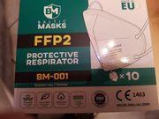 10 Stück FFP2 Masken weiss