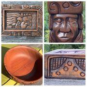Honduras Tiki-Maya Holzschnitz-Kunst