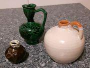 3 kleine Keramik-Vasen