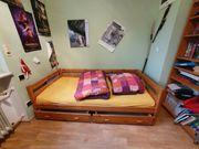 Jugendbett aus massiver Kiefer 1m