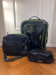 Kofferset in blau und grün