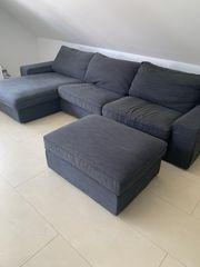 Kivik 3er Couch mit Recamiere