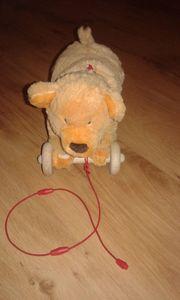Spielzeug Stoffhund zum Ziehen abnehmbar
