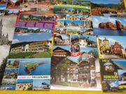 100 verschiedene unbeschriebene Ansichtskarten aus