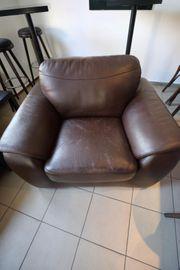 Zweiteilige Kunstleder Couch