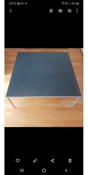 Couch Tisch Glas Schwarz Rahmen