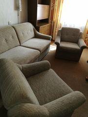 Wohnzimmer Sitzgruppe Hasag Schlafsofa mit