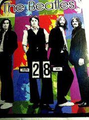 Old ewige Dreh-Kalender 37x27cm Beatles-Monroe-Stones-Jackson-Elvis