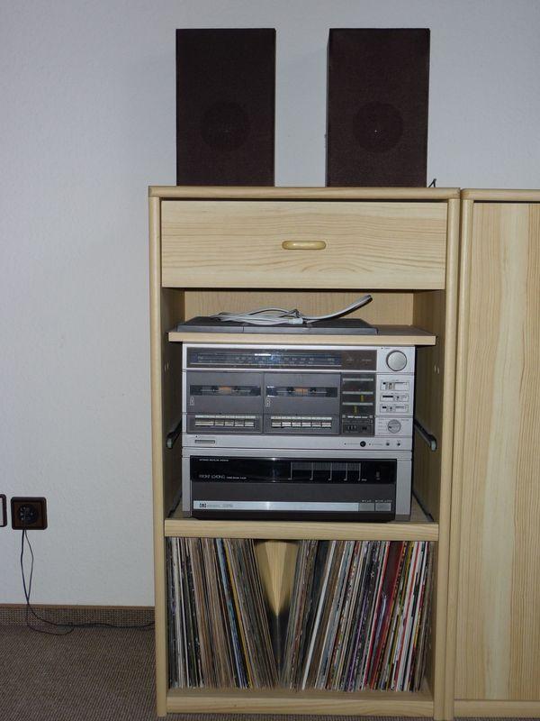 Schrank mit Kombi-Geräten-Radio 2 kassettendecks