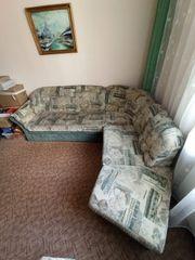 zu verschenken Sofa mit Schlaffunktion