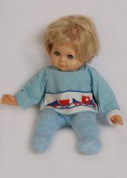 Kinderpuppe-Babypuppe-Schlafaugen-60er Jahre-32 cm-Schlummerchen