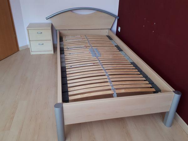 Bett Ahorn Mit Lattenrost Und Kommode In Dortmund Betten