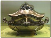Deckelterrine Suppenschüssel Silber 800 innen