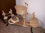 Puppenwagen-Holz-Gestell und Zubehör