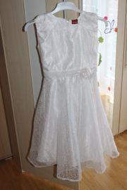 festliches Kleid weiß Kommunionkleid Gr